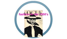 1950's Fahion