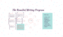 The Remedial Writing Program