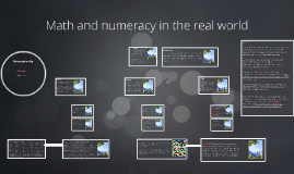 Math and numeracy in the real world