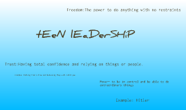 Copy of Teen Leadership