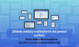 Základy analýzy kvalitativních dat pomocí počítače