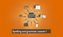 Spelling and grammar: Lesson 1