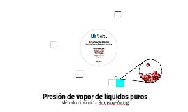 Presión de vapor de líquidos puros