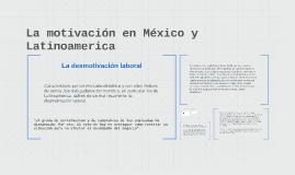 La motivación en Mexico y Latinoamerica