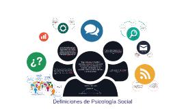 Definiciones de Psicología Social