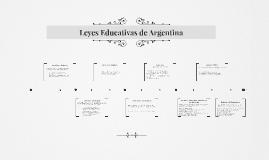Leyes Educativas de Argentina