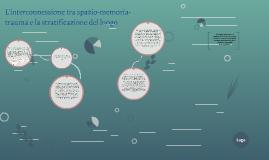 L'interconnessione tra spazio-memoria-trauma e la stratificazione del luogo