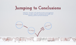 Copy of Jumping to Conclusions; Second Step Gr 4; Lesson 14