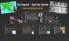 My Proposal - Spartan Women