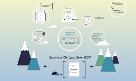 Summer Orientation- EDT