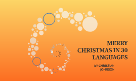 MERRY CHRISTMAS IN 30 LANGUAGES