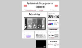 Oportunidades educativas para personas con discapacidades