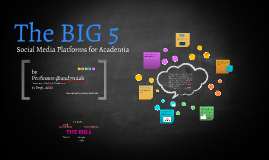 The Big 5 Platforms for Social Media in Academia