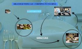 Copy of ORGANIZAR TODOS LOS  CUBIERTOS EN UNA MESA PARA TRES