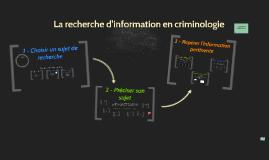 CRI 1006 - Parcours de la recherche d'information en criminologie