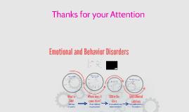 Emotional or Behavior Disorders