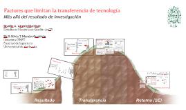 Conversatorio Factores que limitan la transferencia de tecnología
