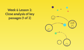 Week 6 Lesson 2: Close analysis of key passages (1 of 2)