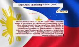 Copy of Depinisyon ng Wikang Filipino (KWF)