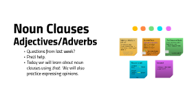 17.10.3 Level 4, Unit 1, Lesson C -  Noun Clauses & Adjectives/Adverbs