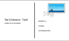 Year 9 Commerce - Travel