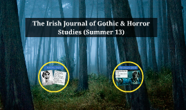 Copy of The Irish Journal of Gothic & Horor Studies (Summer 13)