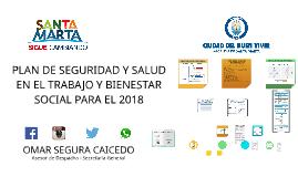 PLAN DE SST Y BIENESTAR SOCIAL 2018