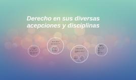 Derecho en sus diversas acepciones y disciplinas