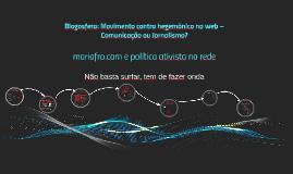mariafro.com e política ativista na rede