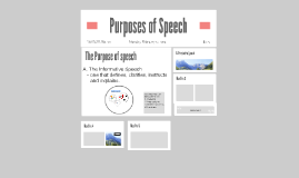 Purposes of Speech