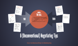 5 (Unconventional) Negotiating Tips