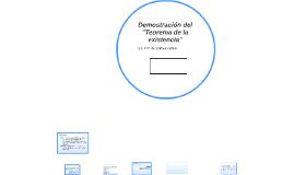 Demostración del Teorema de la existencia