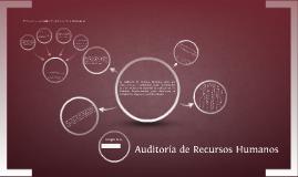 Copy of Auditoría de Recursos Humanos