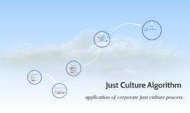 Just Culture Algorithm