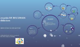 CREACION DE RECURSOS  DIDACTICOS