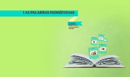 LAS PALABRAS HOMÓFONAS