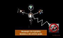 Copy of Trabajo en equipo; modelo de Steve Jobs
