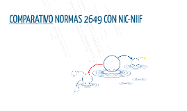 COMPARATIVO NORMAS 2649 CON NIC-NIIF