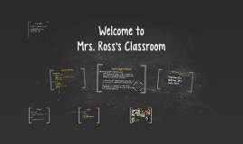 Welcome to Mrs. Ross's Classroom
