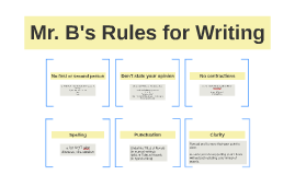 Mr. B's Rules for Writing