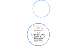 LA INVESTIGACIÓN - ACCIÓN EN LA PRÁCTICA EDUCATIVA