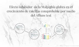 Efecto inhibidor  de la Malpighia glabra en el crecimiento d
