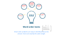 Word order items