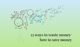 25 ways to waste money/how to save money