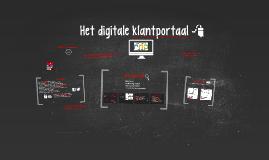 Het digitale klantportaal