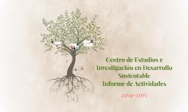 CEDeS, Informe de Actividades 2014-2015