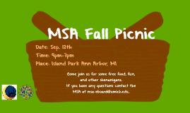 MSA Fall Picnic