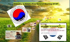 KASA 1st GM 2014