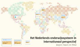 Het Nederlands onderwijssysteem in internationaal perspectief