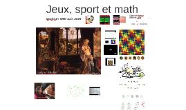 Jeux, sport et math